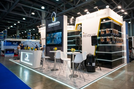 "Rosneft Revolux, a line of engine oils for commercial vehicles, was presented at the international exhibition of commercial vehicles ""Comtrans 2019"""